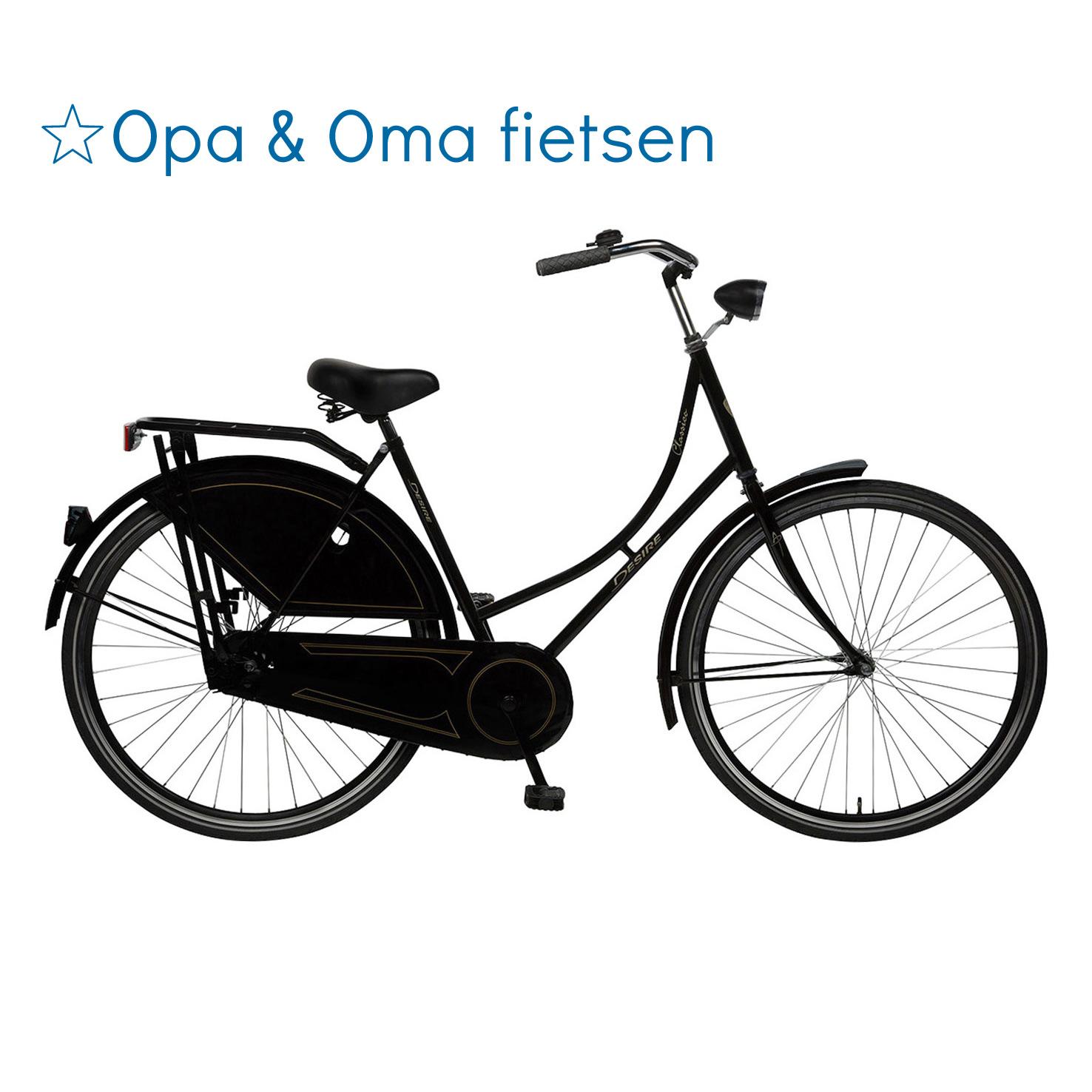 Opa & Oma fietsen